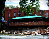 Boathouse Cantina overlooking the Arkansas River, Salida, CO