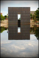 Reflecting Pool and eastern portal of the Gates of Time.